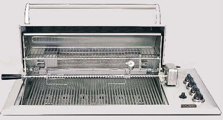 "Fire Magic 42"" 6-Burner Built-In Countertop Gas Grill with Infrared Rotisserie"