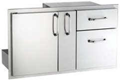 AOG Door with Double Drawer and Platter Storage