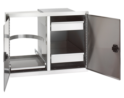 Fire Magic Legacy Double Doors with Dual Drawers and Trash Tray
