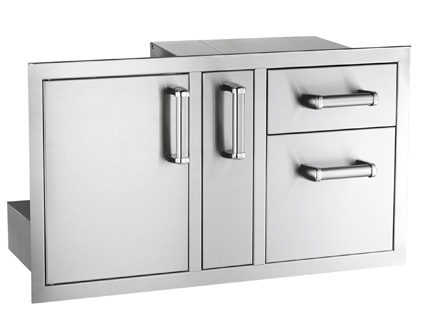 Fire Magic Flush Mounted Door/Drawer Combo with Platter Storage
